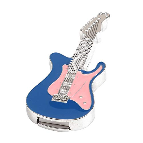 Skyeye Guitarra eléctrica de Cristal Azul U Disco Modelo U Disco USB...