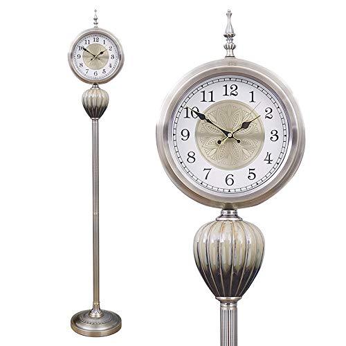 YW1989 Sala de Estar Retro Americana Reloj de Piso Mudo Creativo Metal Personalidad Moderna Reloj de pie Reloj de Hora