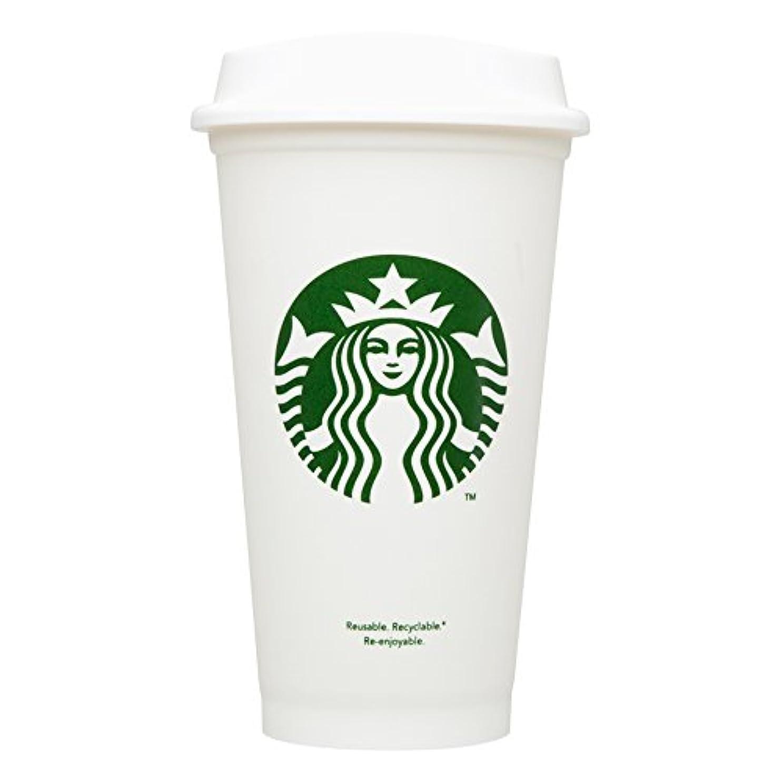 ファウル共役くすぐったいスターバックス プラスティック マグ カップ 16oz USA 限定 紙コップ風 スタバ プラカップ 白 エコ カップ