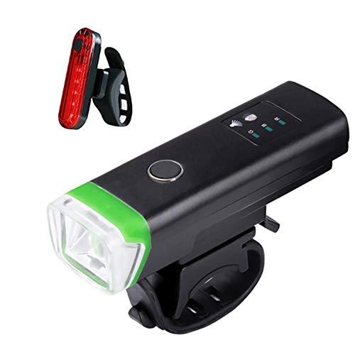 auspilybiber Bicicleta delantera bicicleta luz USB recargable LED bicicleta impermeable Ciclismo faro escalada seguridad linterna lámparas