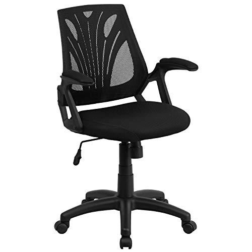 Flash Furniture Mid-Back Designer Black Mesh Swivel Task ...