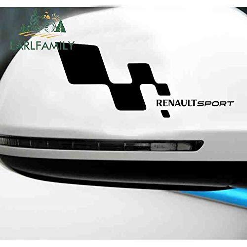 YDBDB 18cm x 15cm 2X Renault Sportwagen Aufkleber Zielflagge Muster Silhouette Art Decor Vinyl Aufkleber Stoßstange Schwarz/Silber Schwarz