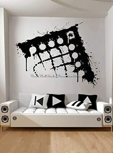 Blrpbc Adhesivos Pared Pegatinas de Pared Arte de actuación Pintura Estudio de grabación Sala de música decoración del hogar calcomanía de Vinilo 72x57cm