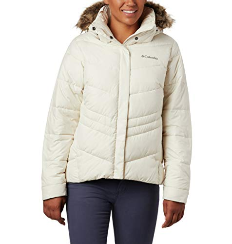 Columbia Women's Plus Size Peak to Park Insulated Jacket, Chalk, 3X