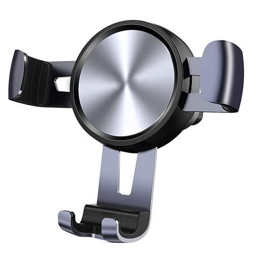 WWMH Soporte Movil Aluminio, Anti Vibración con 360° Soporte Universal Antideslizante, Anti Vibración Porta Telefono Motocicleta Compatible con iPhone 12 Pro Max/12 Mini/11 Pro MAX/XS/XR