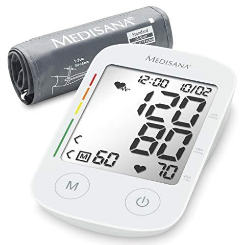 Medisana BU 535 Tensiómetro para el brazo, pantalla de arritmia, escala de colores de los semáforos de la OMS, para una medición precisa de la tensión arterial y del pulso