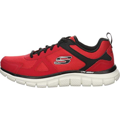 Skechers Track-scloric 52631-bkrd - Zapatillas de gimnasia bajas para hombre Rojo Size: 44 EU