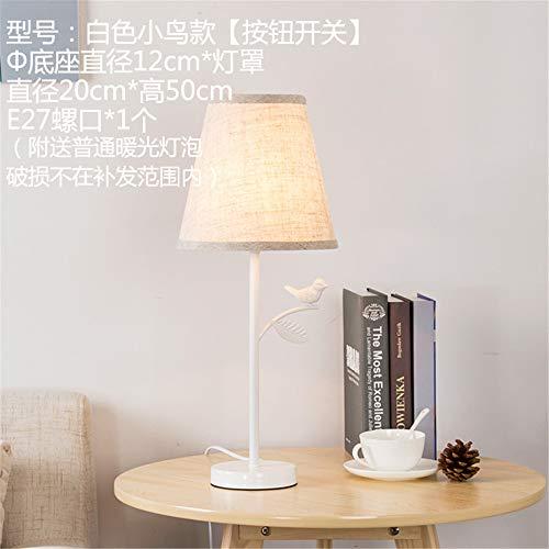 YU-K Vert Simple Séjour Chambre à coucher Chambre d'enfants une petite serviette confortable,lampes couvre 20 * 50cm, White Bird, interrupteur à bouton-poussoir