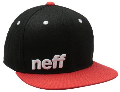 Neff Herren Schirmmütze Daily, Black/Red/White, One Size, VNF0101BLKRWHTO/S