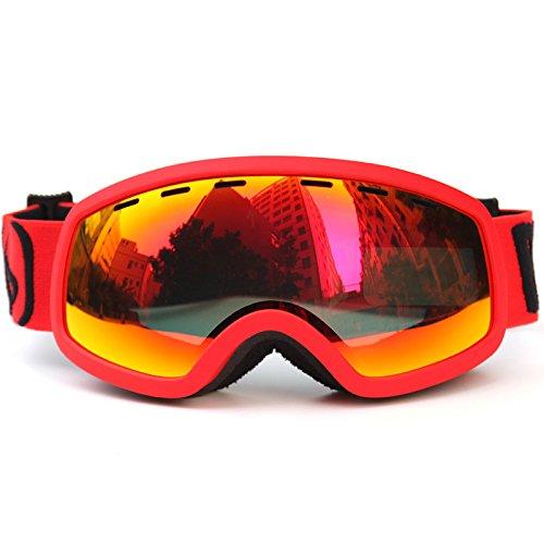 Outdoor Kinderen Skiën Goggles met Afneembare Dual Layer Anti-Mist Dubbele Lens Ski & Snowboard Bril Multi kleuren Helm Compatibel