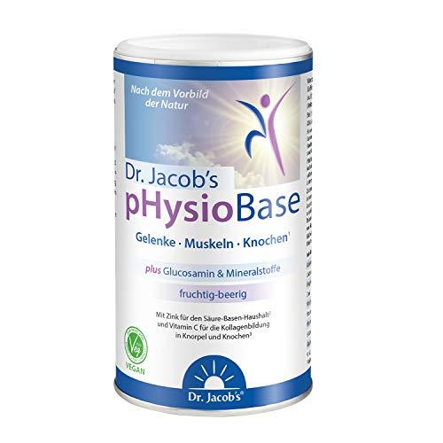 Dr. Jacob\'s pHysioBase 300 g Dose I vegan mit der Kraft echter Beeren & Glucosamin I auf Basis von Citraten & Laktat, viel Kalium, Magnesium, Calcium, Vitamin C I für Gelenke, Knochen & Immunsystem