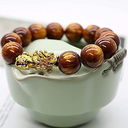 Pulsera de la riqueza Feng Shui Feng shui riqueza pulsera ámbar negro coral / marrón con cuentas pi yao / pixiu pulsera talisman chakra curación cristal amuleto para hombres prosperidad éxito