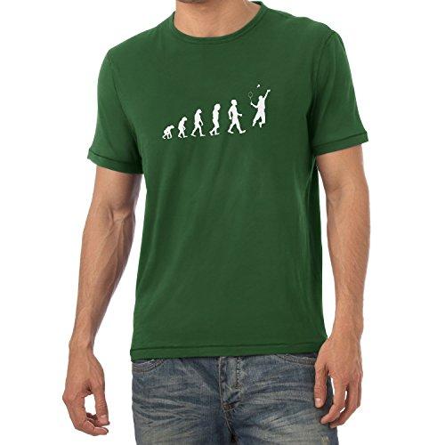 Texlab Badminton Evolution - Herren T-Shirt, Größe L, flaschengrün