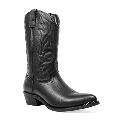 Masterson Men's Deertan J Toe Cowboy Western Boot (Black, 14)