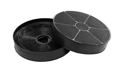 Aktivkohlefilter - passend für Bomann-Dunstabzugshauben DU 612/613/620 - Ersatzfilter für Bomann KF 561 (256100/4004470256109) - 2 Stück
