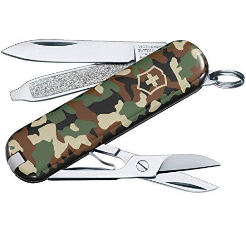 Victorinox Classic SD Taschenmesser, 7 Funktionen, Klinge, Schere, Nagelfeile, camouflage
