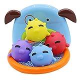 NUOBESTY 5Pcs Baby Shower Toy Bathtime Hoop Juego Juguetes Cesta Agua Juguetes para Bebé Bebé Hogar Piscina Bañera (Color Surtido)