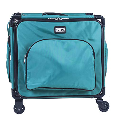 """Tutto Serger Tote on Wheels (Turquoise, 17"""")"""