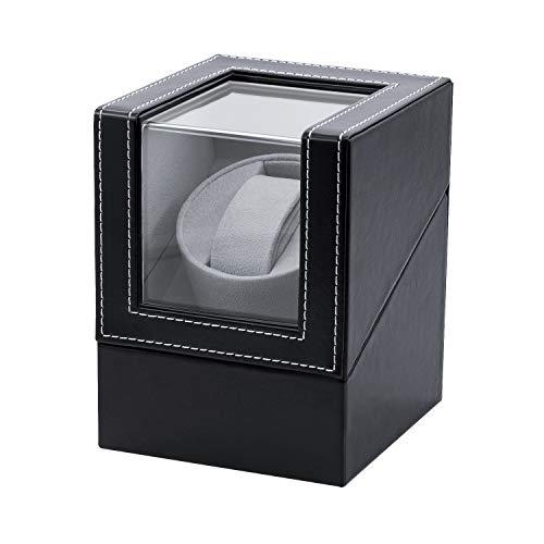 Mcbazel Automatic Watch Winder Box PU Quad Single Watch Display Storage Wristwatch Black