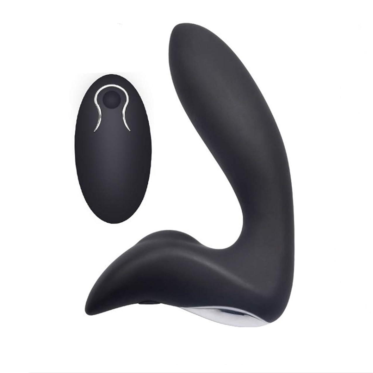 抵当差し引く未亡人電気式マッサージ器前立腺マッサージ器黒色リモートコントロール付き12周波数感受性領域は静かな防水性大人を刺激する