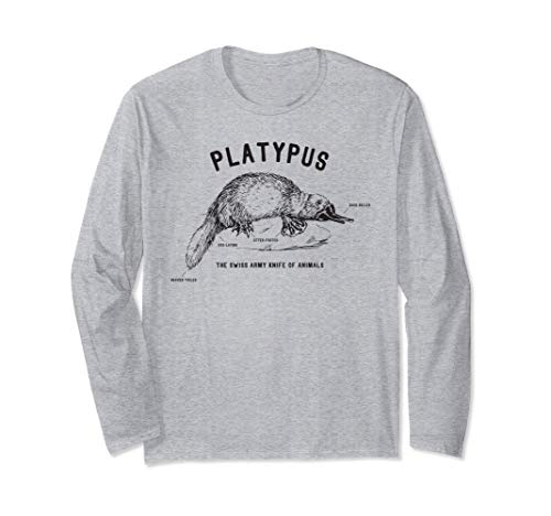 Platypus Swiss Army Knife of Animals Design - Funny Gift Manche Longue