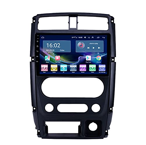 Estéreo Del Coche Radio De Navegación Por Satélite FM AM Reproductor Multimedia Android 10.0 Autoradio Pantalla Táctil Navegación GPS Para Suzuki JIMNY 2007-2012 Soporte Bluetooth (Color:WIFI 2G+32G )