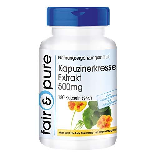 Kapuzinerkresse Extrakt 500mg - 10-fach konzentriert - natürlich - vegan - ohne Magnesiumstearat -...