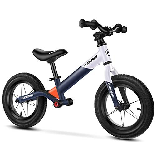 Bicicleta De Equilibrio para Niños A Juego con El Color De La Moda, Bicicleta De Entrenamiento para Bebés De 1 A 6 Años, Bicicleta De Equilibrio Sin Pedal,Blanco