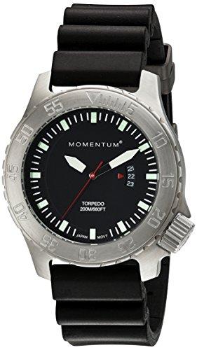 Momentum Herren-Armbanduhr XL Torpedo Analog Quarz Kautschuk 1M-DV74B1B