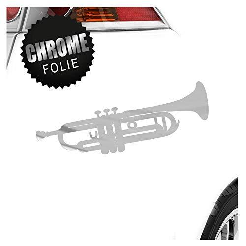 Trompette – 3 tailles disponibles pare-brise arrière Colle Sur carsticker Decal, gelb-21, 40 x 12 cm