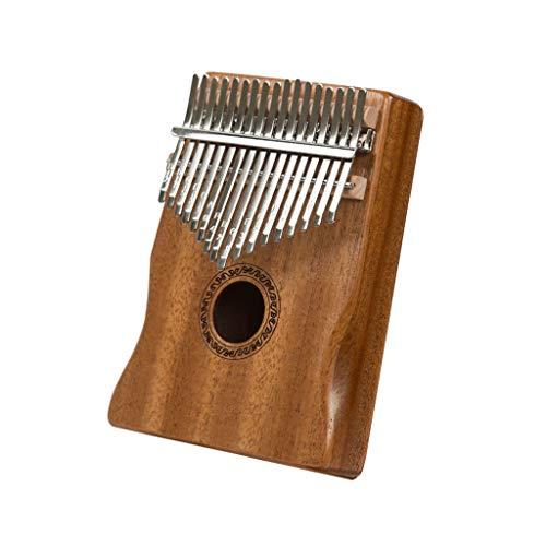 Thumb Piano Kalimba 17 Tasti Strumento Musicale Piano Portatile Mbira Finger In Legno Massello Con Istruzioni per L'apprendimento Del Martello Dello Spartito Musicale per Bambini Principianti Professi