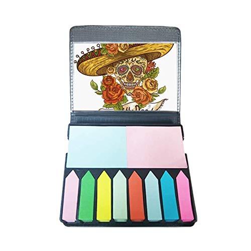 Sombrero Suiker Schedel Mexico Dag van de Dode Zelf Stick Note Kleur Pagina Marker Box