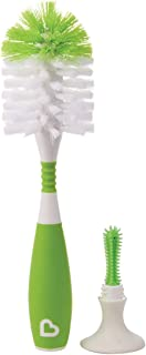 (2017 Model) - Munchkin Deluxe Bottle and Teat Brush with Textured, Easy-Grip Handle - Assorted Colours