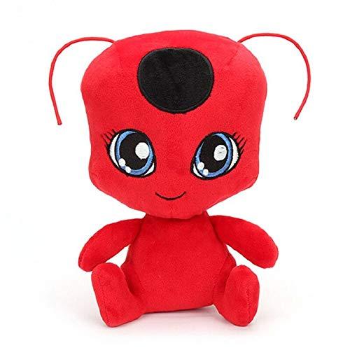 aolongwl Peluche Ladybug Girl Toy Ladybug Red Ladybug Girl Jue Black Cat Plush Doll