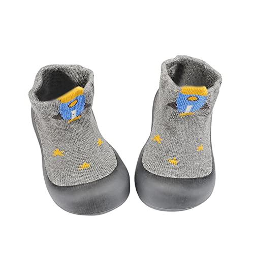 Calcetines suaves para bebé, antideslizantes, para niños, para verano, para aprender a caminar, transpirables, gris, 20
