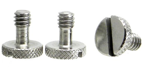 Steel Screws 1/4' Tripod Quick Release QR Plate Camera Flathead Slot Stainless SS ideal for Manfrotto / Sachtler (3 Pack)