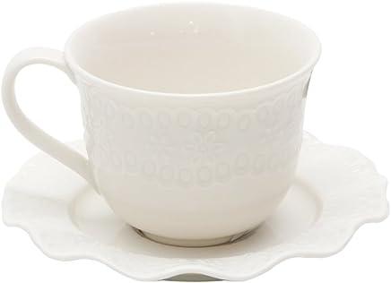Conjunto 6 Xícaras para Café de Porcelana Princess Lyor Branco 90Ml