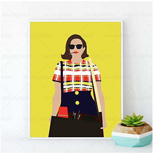 ASLKUYT Mad Men Posters Peggy Olson Tv Series Canvas Painting Gift for Room Decoration Print on Canvas -50x70cm No Frame