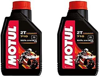 Motul 710 2T motorolie 2 liter 100% synthetisch compatibel met Yamaha YQ 50 L Aerox Rossi Replica 2004