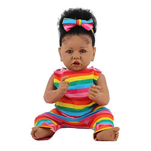 M-GLT 23inch 58cm Renacido Baby Dolls Chica de Silicona Suave de la Vida Real muñecas Hechas a Mano recién Nacido Bebés Reborn niño y niña Juguetes del niño Que Duerme Regalos de un Chica de Navidad