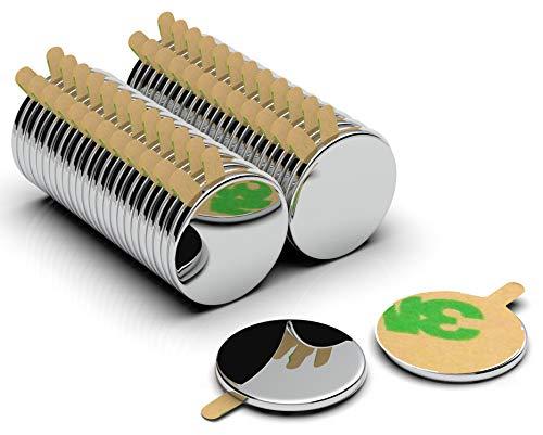 50 Stück 8x1 mm N42 selbstklebende Neodym Magnete - NeoMagNova® Mini Klebemagnete paarweise magnetisiert