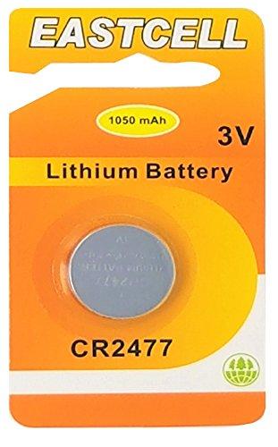 EASTCELL 1 x CR2477 3V Lithium Knopfzelle 1050 mAh (1 x EINZELBLISTER) EINWEG Markenware