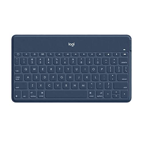 Logitech Keys-To-Go Teclado Inalámbrico Bluetooth para iPhone, iPad, Apple TV, ligero, portátil, Disposición QWERTY Español, Blanco