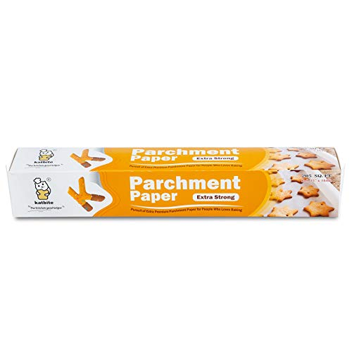 Katbite Parchment Paper Roll -15 in x164 ft (205 SQ FT) Baking Pan Liners For Baking, Cooking