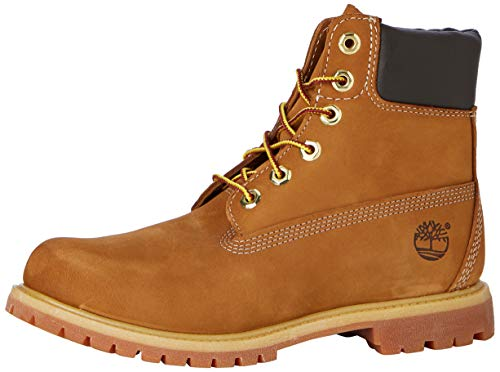"Timberland Women's 6"" Premium Lace-Up Boot,Rust Nubuck,7.5 D US"