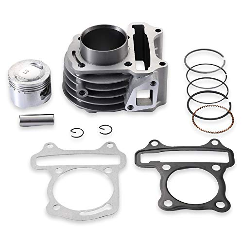 CLEO 61mm Big Bore Cylinder Kit With Piston Ring Pin For 4 Strokes GY6 180cc 152QMI 157QMJ Engine Scooter ATV Go Kart Taotao Baja Roketa