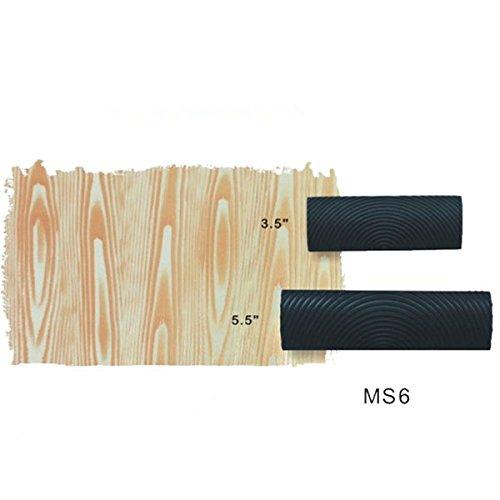 ULTNICE 2pcs Texture bois peinture M-forme du Grain bois en caoutchouc peinture murale Decor outil