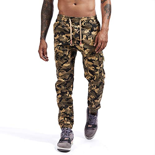 AIMPACT Mens Joggers Camo Cargo Sweatpants Running Workout Pants for Men with Multiple Pockets(34 XL)