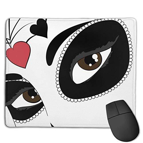 Mousepad Dia De Los Muertos Abstrakte Maske Glattes, komfortables Gaming-Mauspad mit rutschfester Gummibasis