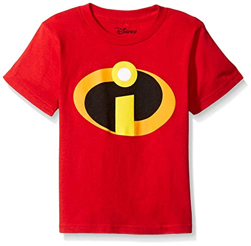 Disney Little Boys' The Incredibles Logo Costume T-Shirt, Red, 3T